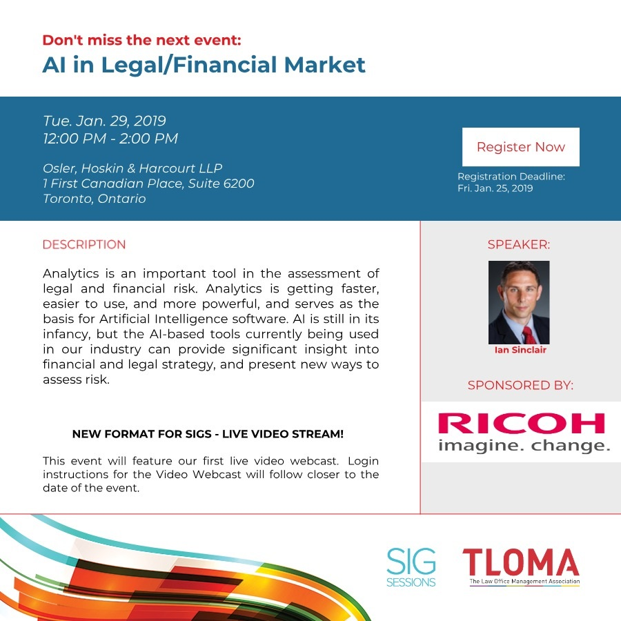 Ricoh - Red Carpet Sponsorship - Finance SIG - January 29, 2019