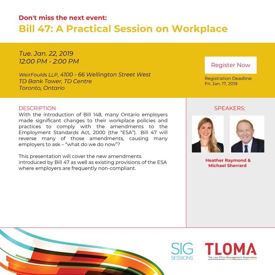TLOMA - HR SIG - Bill 47 - January 22, 2018