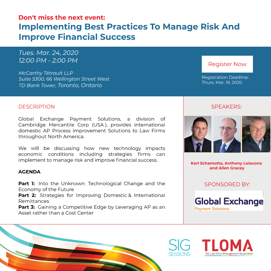 Interruption Ad - Finance SIG - Implementing Best Practices To Manage Risk And Improve Financial Success - March 24, 2020-