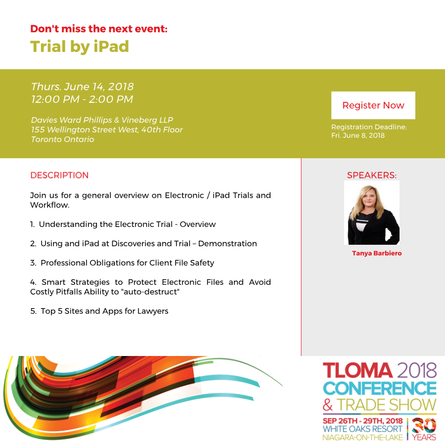 Interruption Ad - TLOMA - Trial by iPad - June 14, 2018