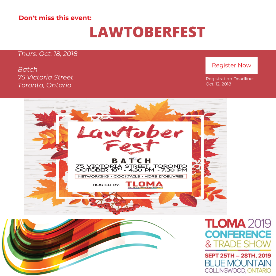 Interruption Ad - Lawtoberfest - A TLOMA Fall Networking Event - October 18, 2018