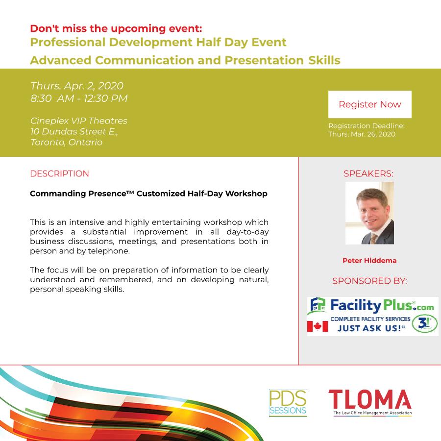 TLOMA - Interruption Ad - PD Event - April 2, 2020