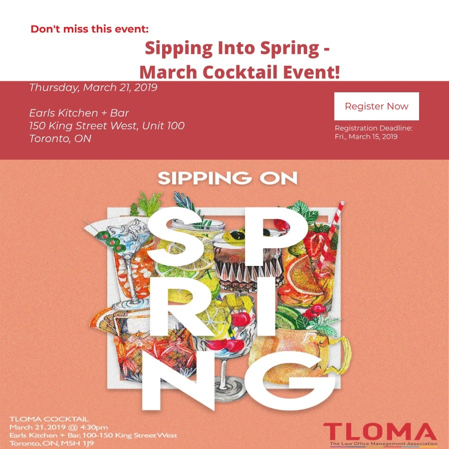 TLOMA Interruption Ad - Sipping Into Spring - March 21, 2019