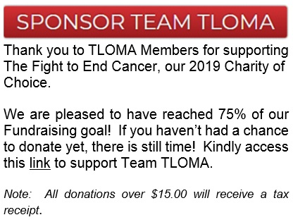 Sponsor Team TLOMA - Fight to end Cancer Charity HalfPage