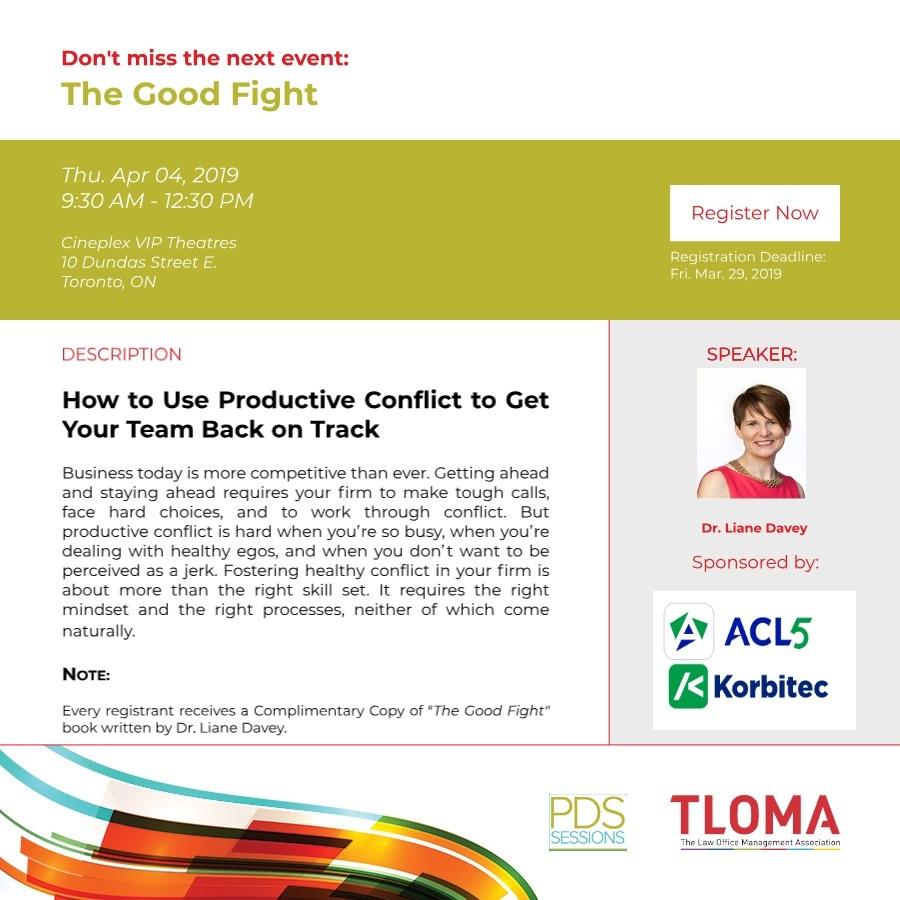 TLOMA - Interruption Ad - PD Event - The Good Fight - April 4, 2019