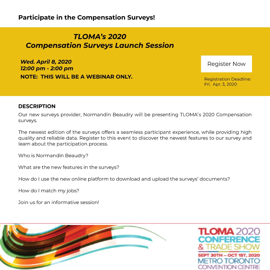 TLOMA - Interruption Ad - TLOMA's 2020 Compensation Surveys Launch - April 8, 2020