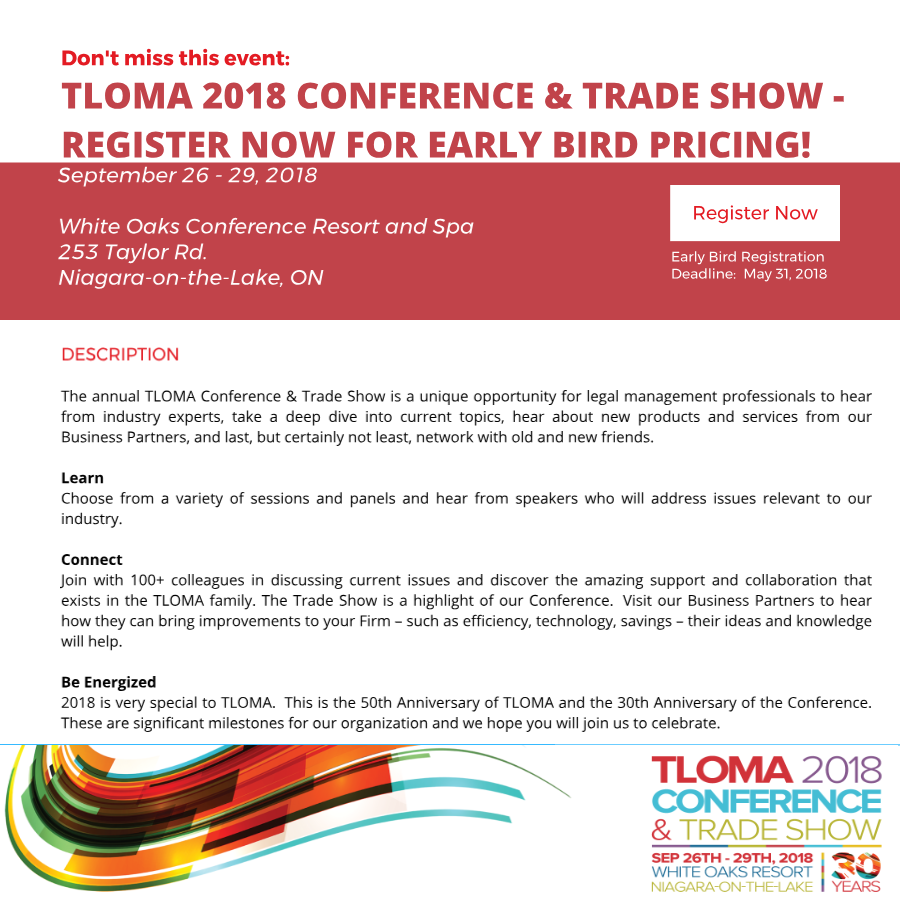 TLOMA - 2018 Conference and Trade Show