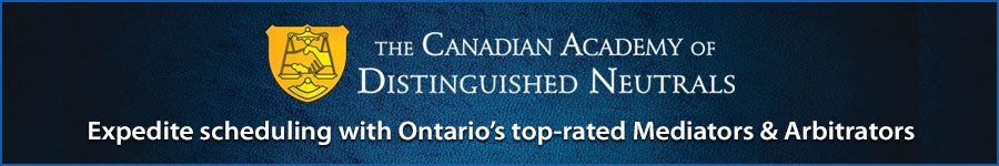 Leaderboard Ad - Canadian Academy of Distinguished Neutrals - 3 months at 75.00 + HST per month Leaderboard