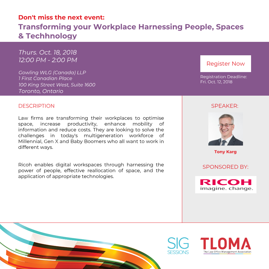 Interruption Ad - Transforming your Workplace Harnessing People, Spaces and Technology - October 18, 2018